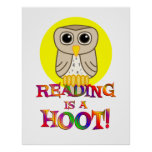 Reading is a Hoot Poster