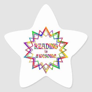 Reading is Awesome Star Sticker