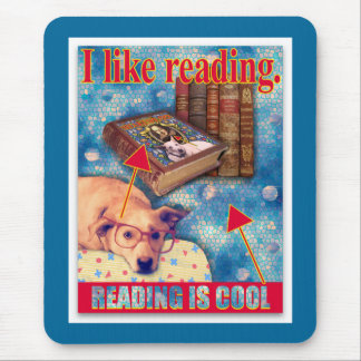 READING IS COOL MOUSE PAD