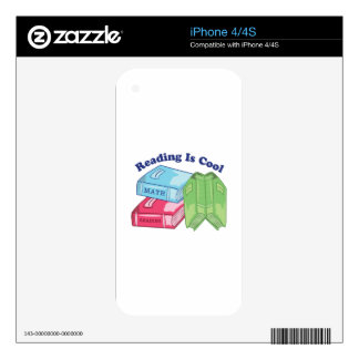 Reading Is Cool iPhone 4S Decal