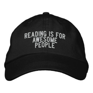 reading is for awesome people embroidered baseball cap