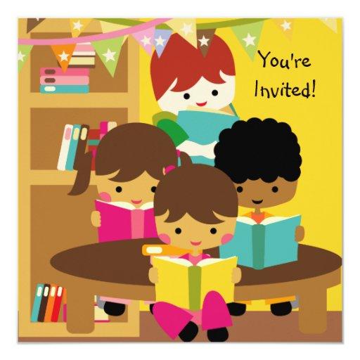 Reading is Fun Birthday Invitation