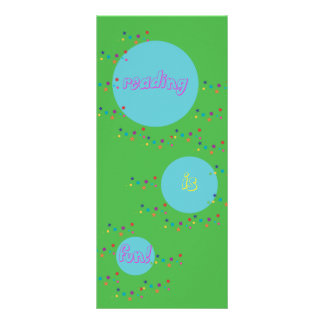 Reading is Fun Bookmarks Rack Card