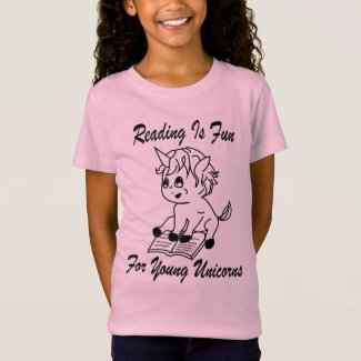 Reading Is Fun For Young Unicorns Tee - BL