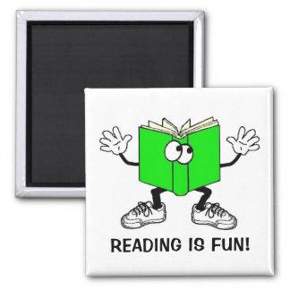 """Reading is Fun!"" Fridge Magnet SQUARE"