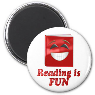 Reading is Fun 2 Inch Round Magnet