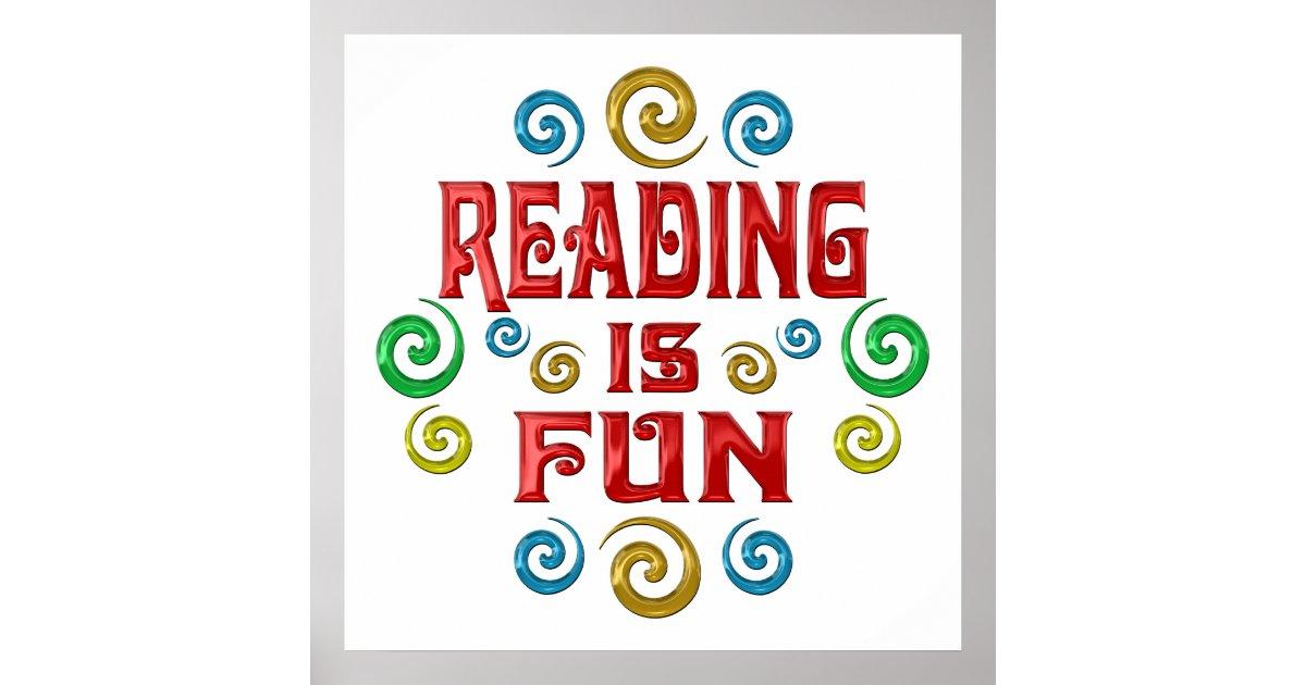 Reading is FUN Poster | Zazzle.com