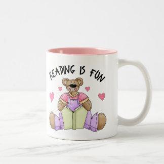 Reading Is Fun School Gift Two-Tone Coffee Mug