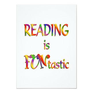 Reading is FUNtastic Custom Invites