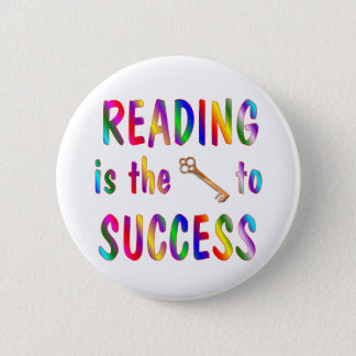 Reading is Key to Success Pinback Button