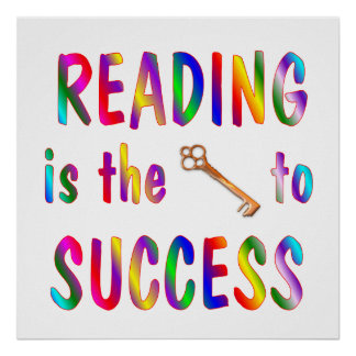 Reading is Key to Success Poster