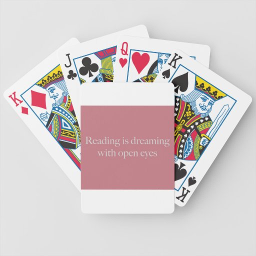 Reading Is like... Bicycle Playing Cards