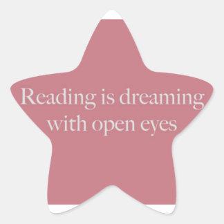Reading Is like... Star Sticker
