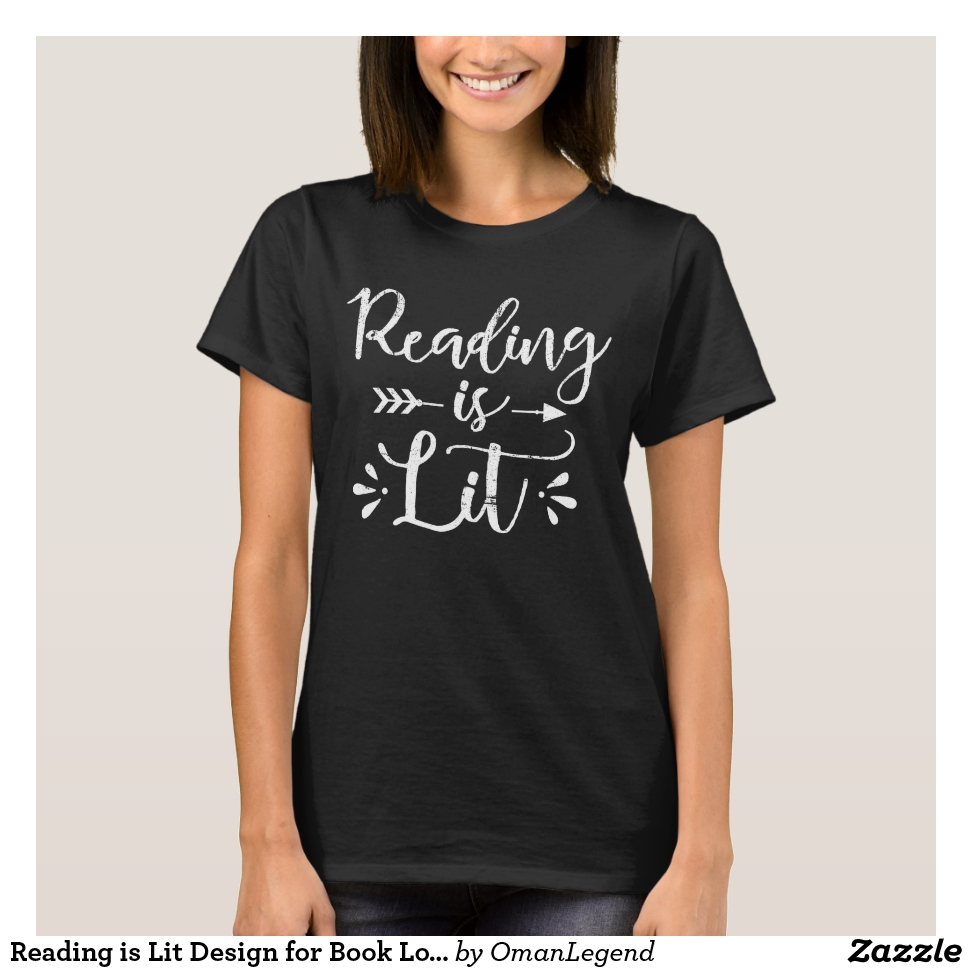 Reading is Lit Design for Book Lovers, Literature T-Shirt - Best Selling Long-Sleeve Street Fashion Shirt Designs