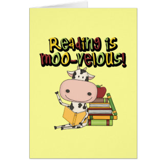 Reading is Moo-velous Card