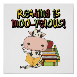 Reading is Moo-velous Print