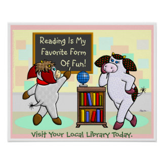 Reading Is My Favorite Form Of Fun! Poster