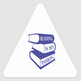 Reading Is My Passion Triangle Sticker