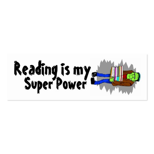 Reading Is My Super Power Mini Bookmarker Business Cards