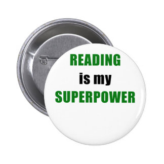 Reading is my Superpower 2 Inch Round Button