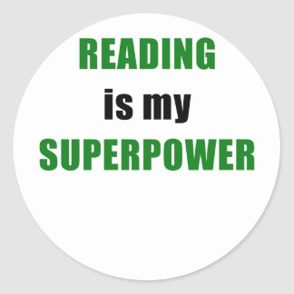 Reading is my Superpower Classic Round Sticker