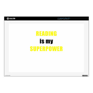 """Reading is my Superpower Decal For 17"""" Laptop"""