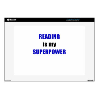"""Reading is my Superpower Decals For 15"""" Laptops"""