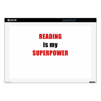 Reading is my Superpower Laptop Skin