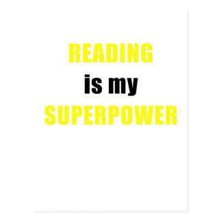 Reading is my Superpower Postcard