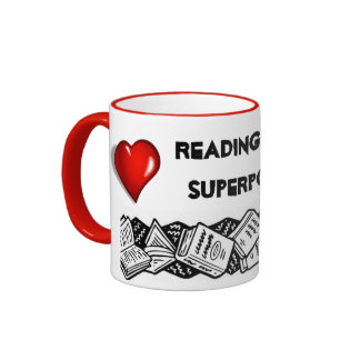 Reading is my Superpower Ringer Mug
