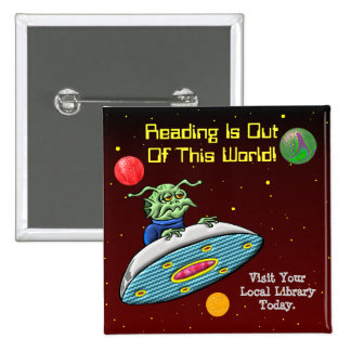 Reading Is Out Of This World Button