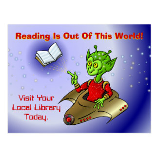 Reading Is Out Of This World Postcard
