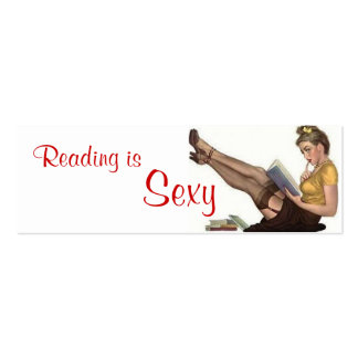 Reading is Sexy - Bookmark Mini Business Card