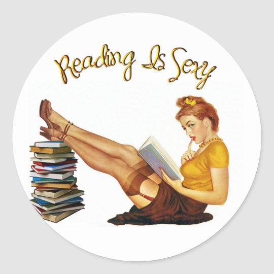 Reading IS Sexy Classic Round Sticker