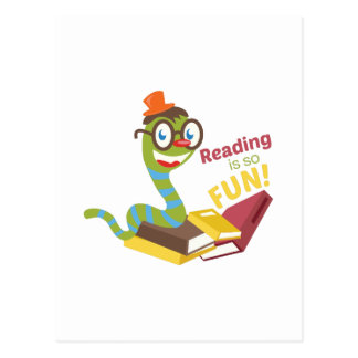 Reading is so fun post cards