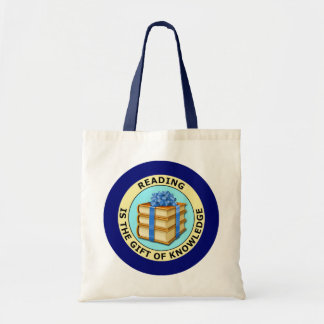 READING IS THE GIFT OF KNOWLEDGE TOTE BAG