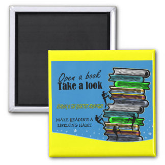 Reading is the Greatest Adventure Square Magnet