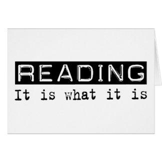 Reading It Is Card