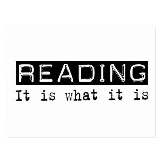 Reading It Is Postcard