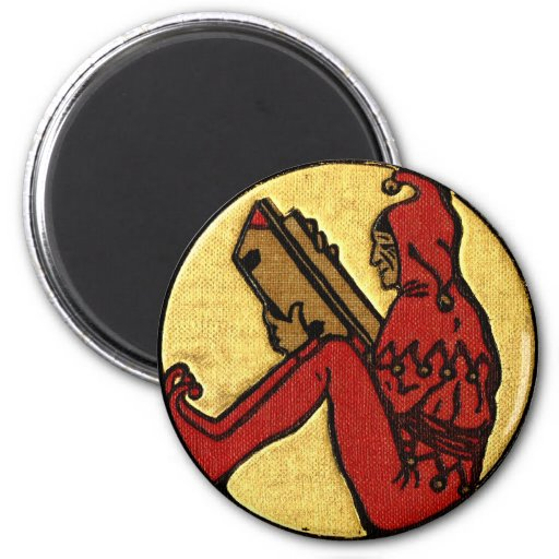 Reading Jester 2 Inch Round Magnet