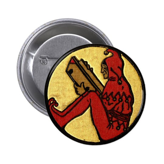 Reading Jester Pinback Button