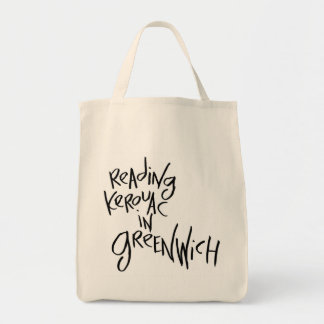 Reading Kerouac In Greenwich Canvas Bags