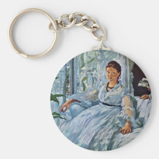 Reading (La Lecture),  By Manet Edouard Key Chains