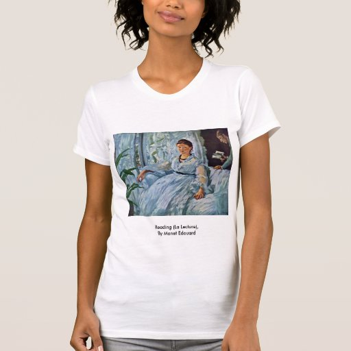 Reading (La Lecture),  By Manet Edouard Tshirt