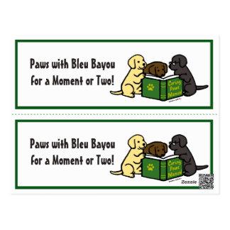 Reading Labrador Puppies Bookmarks Postcard