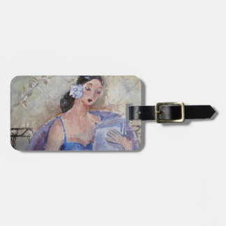Reading Lady by Marie Theron Bag Tag