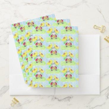 Beach Themed Reading ladybug kid pocket folders