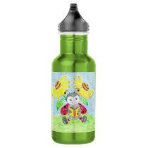 Reading ladybug kid reusable water bottle