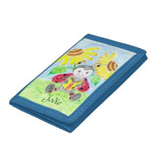 Reading ladybug kid wallet