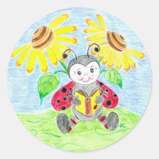 Reading ladybug stickers